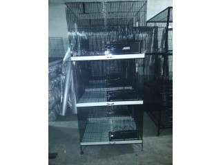 3 portion ring neck breeding cage